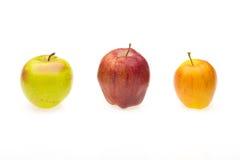 Tre äpplen Royaltyfria Bilder