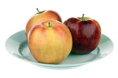 Tre äpplen Arkivfoto