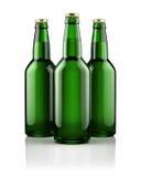 Tre ölflaskor stock illustrationer