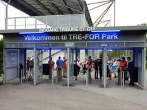 Tre-ΓΙΑ πάρκο, Οντένσε, Δανία Στοκ εικόνα με δικαίωμα ελεύθερης χρήσης