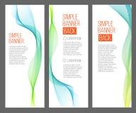 Tre abstrakta baner med lutningrengöringsdukar Royaltyfri Fotografi