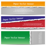 Tre abstrakta sönderrivna pappers- baner Royaltyfri Bild