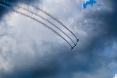 Tre aerei nel cielo Immagini Stock