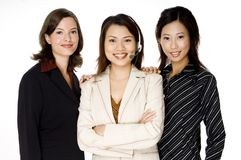 Tre affärskvinnor Royaltyfri Foto