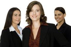 Tre affärskvinnor royaltyfria bilder