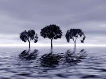 Tre alberi illustrazione vettoriale