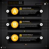 Tre alternativ i technostil Arkivfoton