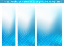 Tre ambiti di provenienza verticali astratti dell'insegna Immagini Stock