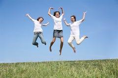 Tre amiche Fotografia Stock