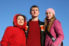 Tre amici Fotografia Stock Libera da Diritti