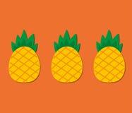 Tre ananas svegli Fotografie Stock