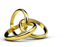 Tre anelli d'intersezione Fotografia Stock