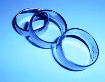 Tre anelli dell'acciaio inossidabile Immagine Stock