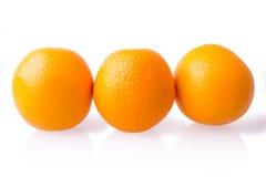 Tre aranci maturi Fotografia Stock Libera da Diritti