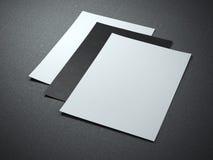 Tre ark för tomt papper vektor illustrationer