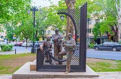 Tre armeniska musiker arkivbild
