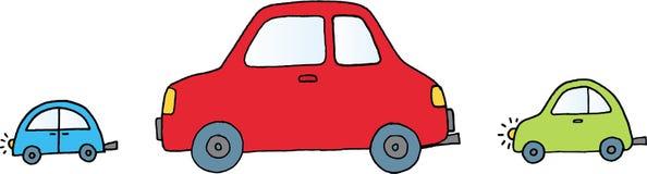 Tre automobili illustrazione di stock