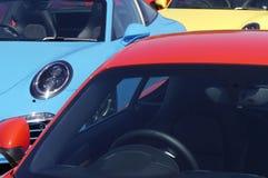 Tre automobili sportive fotografia stock