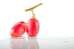 Tre av röda druvor Fotografering för Bildbyråer