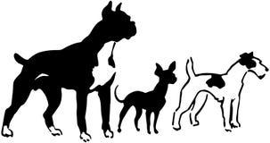 Tre avel av hundkapplöpning royaltyfri illustrationer