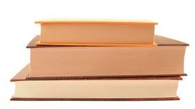 Tre böcker i hård räkning Royaltyfri Fotografi