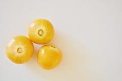 Tre bacche dorate Fotografia Stock Libera da Diritti