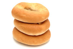 Tre bagel (baranka) Immagini Stock