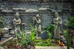 Tre Bali springbrunn Fotografering för Bildbyråer