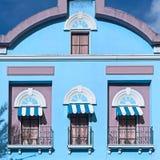 Tre balkonger royaltyfri bild