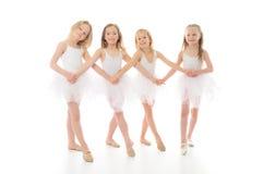 Tre ballerini di balletto divertenti fotografia stock libera da diritti