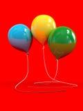 Tre ballonger Royaltyfri Foto