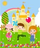 Tre bambini Immagini Stock