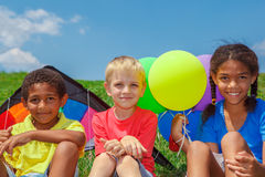 Tre bambini s Fotografia Stock