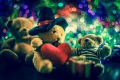 Tre bambole dell'orso Fotografia Stock
