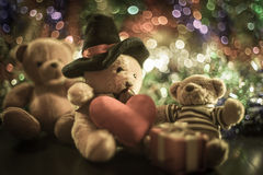 Tre bambole dell'orso Fotografia Stock Libera da Diritti