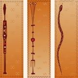 Tre bandiere royalty illustrazione gratis