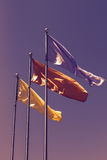 Tre bandiere Fotografie Stock