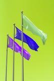 Tre bandiere Fotografia Stock Libera da Diritti
