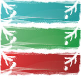 Tre bandiere di natale illustrazione vettoriale