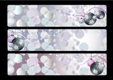 Tre baner med vektorjuldesign Royaltyfri Fotografi