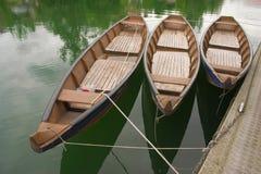Tre barche Immagini Stock