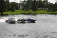 Tre barche Immagine Stock
