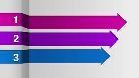 Tre barre quadrate della freccia, grafico della casella titolo di introduzione, modello di presentazione di PowerPoint royalty illustrazione gratis