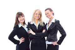 Tre belle donne di affari immagini stock