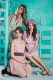 Tre belle giovani donne Immagine Stock
