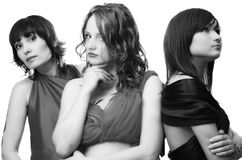 Tre belle ragazze Fotografie Stock Libere da Diritti