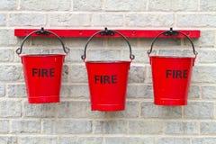 Tre benne di fuoco Fotografia Stock Libera da Diritti