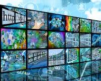 Tre-berättelse vägg Fotografering för Bildbyråer