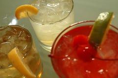 Tre bevande ghiacciate Fotografie Stock
