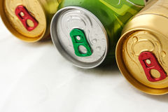 Tre birre Immagine Stock